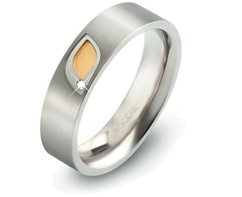 Boccia Titanium Titanový prsten s briliantem 0146-01