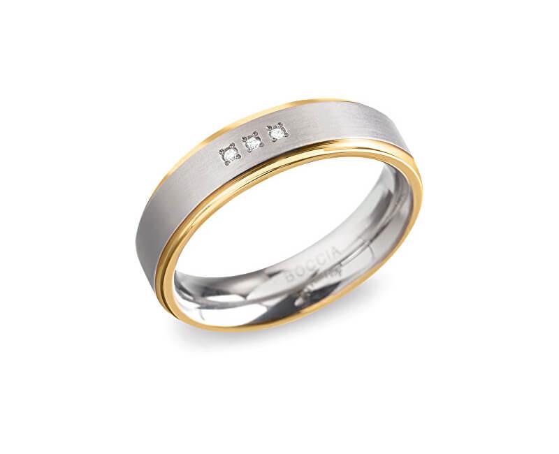 Boccia Titanium Titanový snubní prsten 0134-04