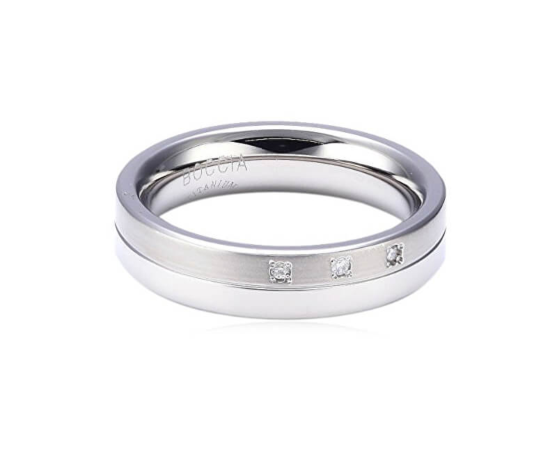 Boccia Titanium Titanový snubní prsten s diamanty 0129-03