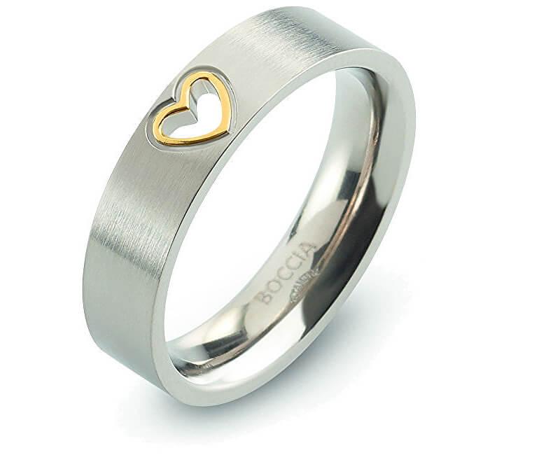 Boccia Titanium Zamilovaný titanový prsten 0143-02
