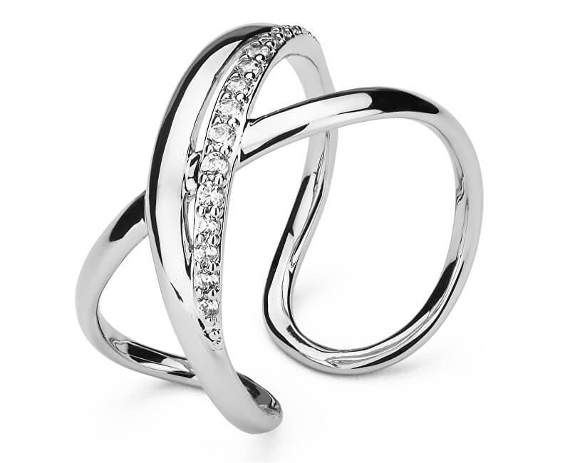 Brosway Otevřený prsten se zirkony Ribbon BBN31