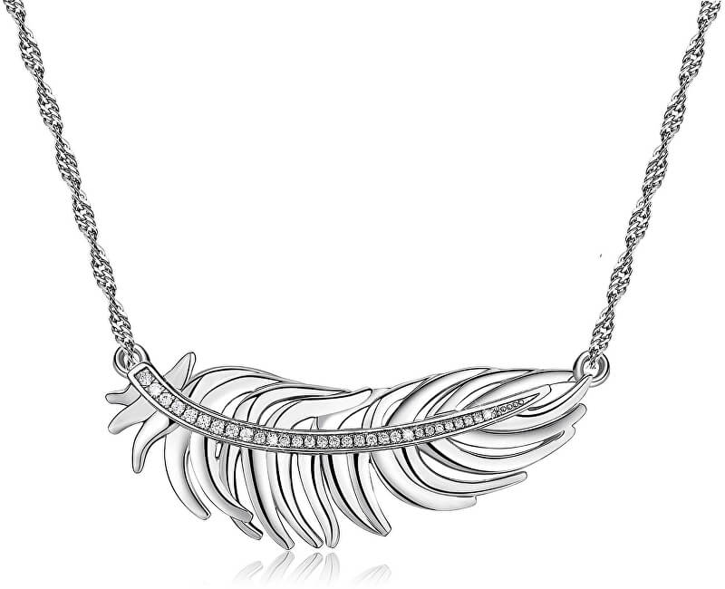 Brosway Romantický náhrdelník s peříčkem Plume BUM01