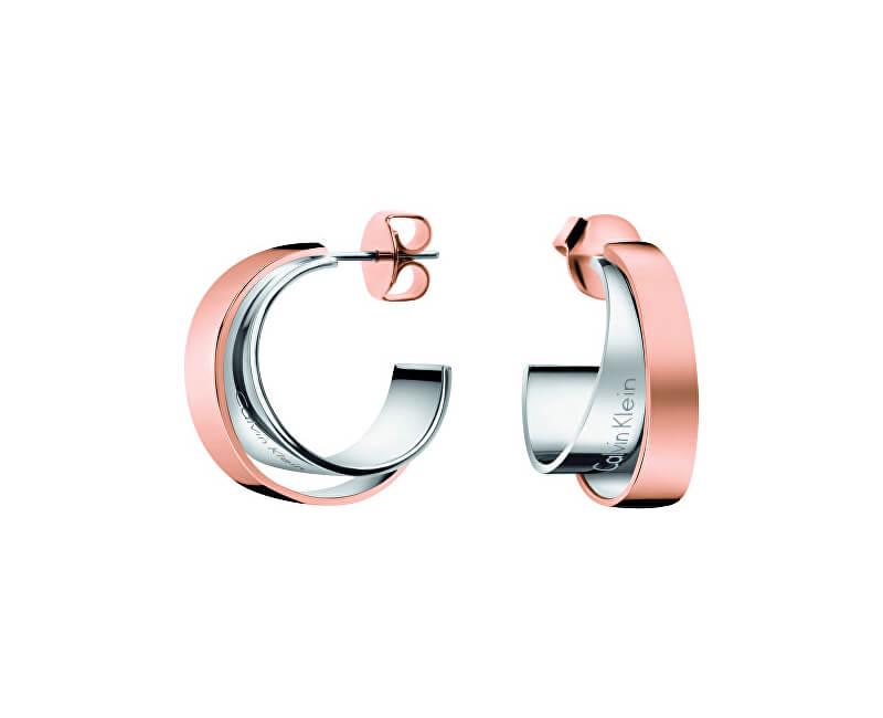 Calvin Klein Bicolor ocelové náušnice Unite KJ5ZPE200100