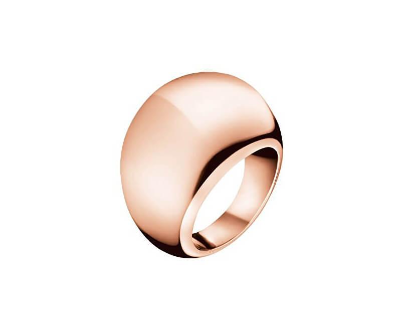 Calvin Klein Bronzový prsten Ellipse KJ3QPR1001