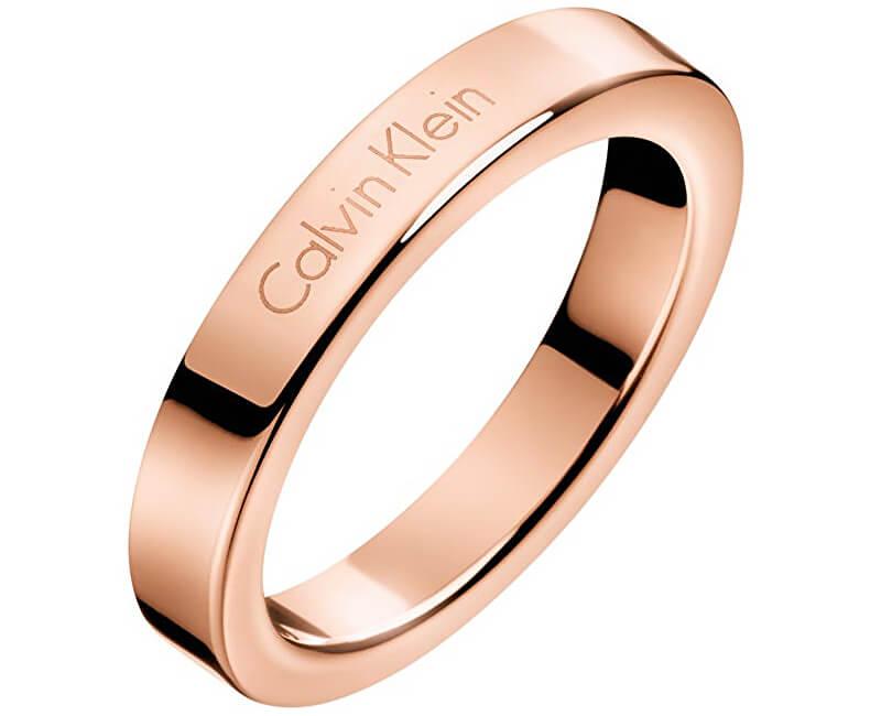 Calvin Klein Bronzový prsten Hook KJ06PR1001
