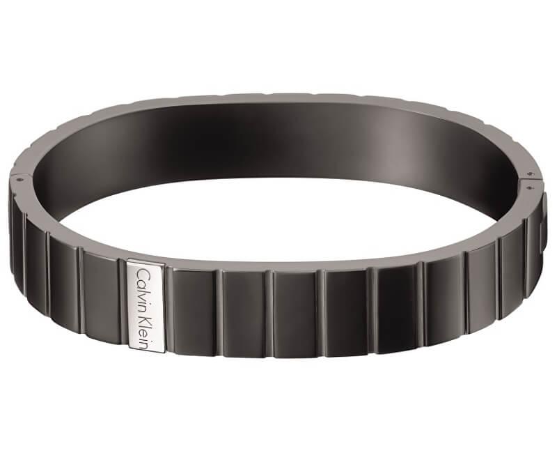 Calvin Klein Černý ocelový náramek KJ5SBD2801