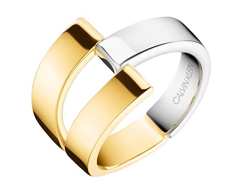 Calvin Klein Luxusní bicolor prsten Truly KJ8JJR2001