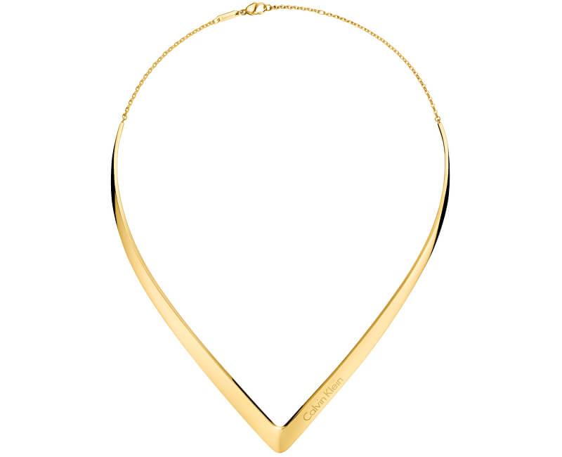 Calvin Klein Luxusní pozlacený náhrdelník Outline KJ6VJJ100100