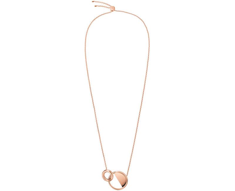 Calvin Klein Luxusní růžově pozlacený náhrdelník Locked KJ8GPN100100
