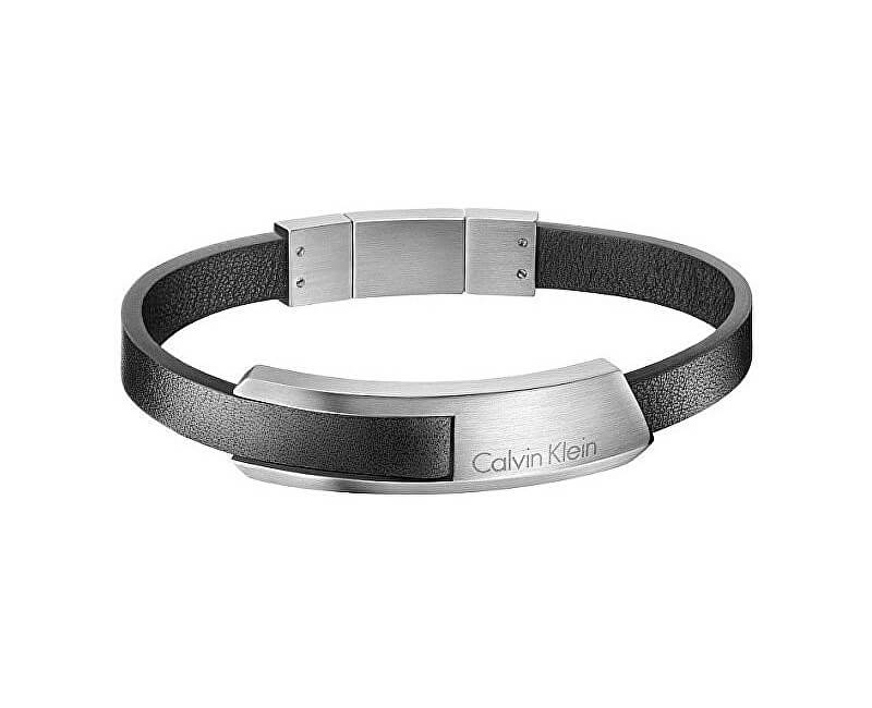Calvin Klein Pánský kožený náramek Bump KJ4MBB090100