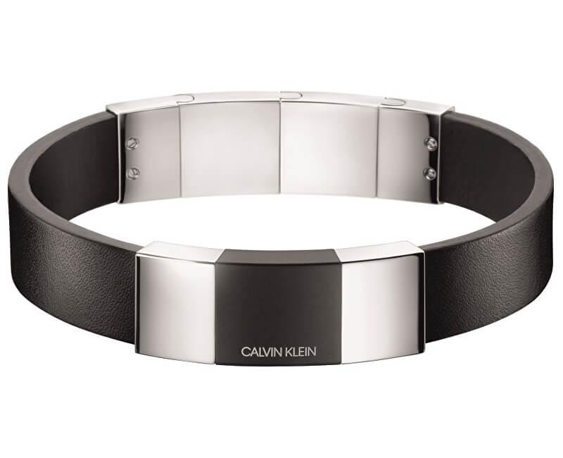Calvin Klein Pánský kožený náramek Strong KJ9LMB2901