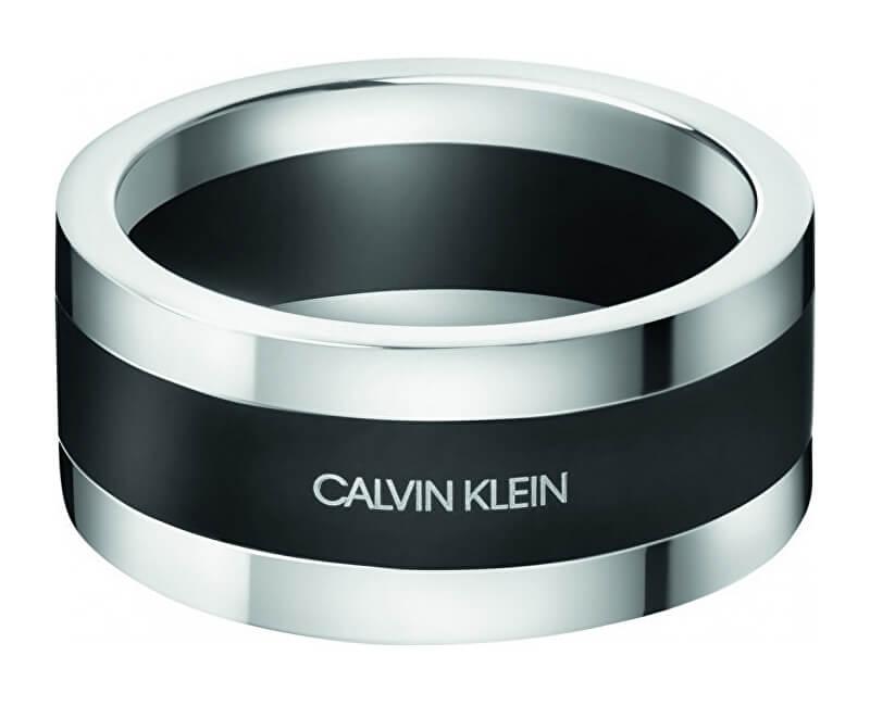 Calvin Klein Pánský ocelový prsten Strong KJ9LMR2801