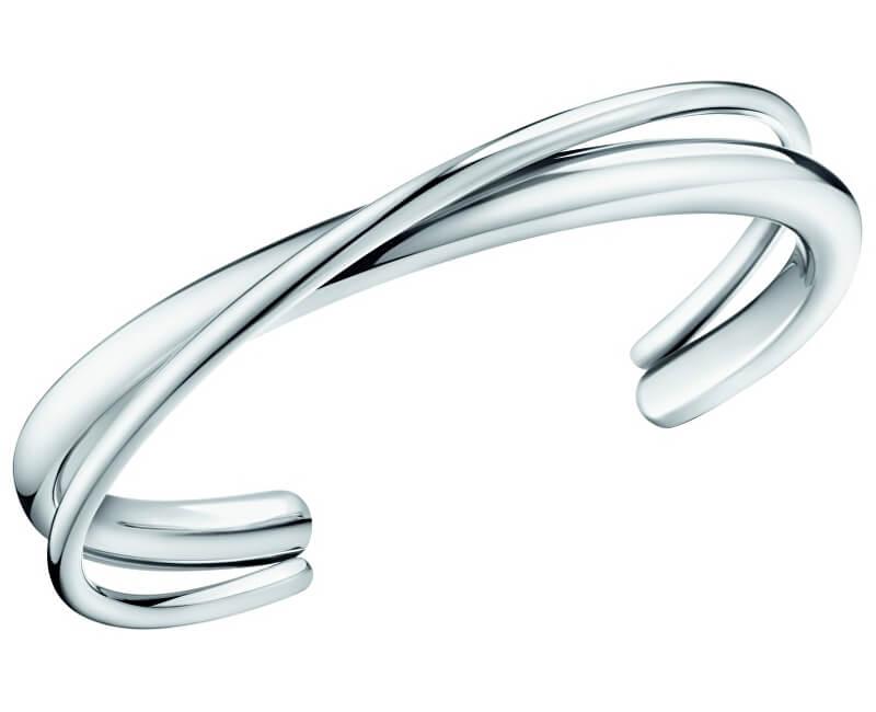 Calvin Klein Pevný ocelový náramek Double KJ8XMF0001