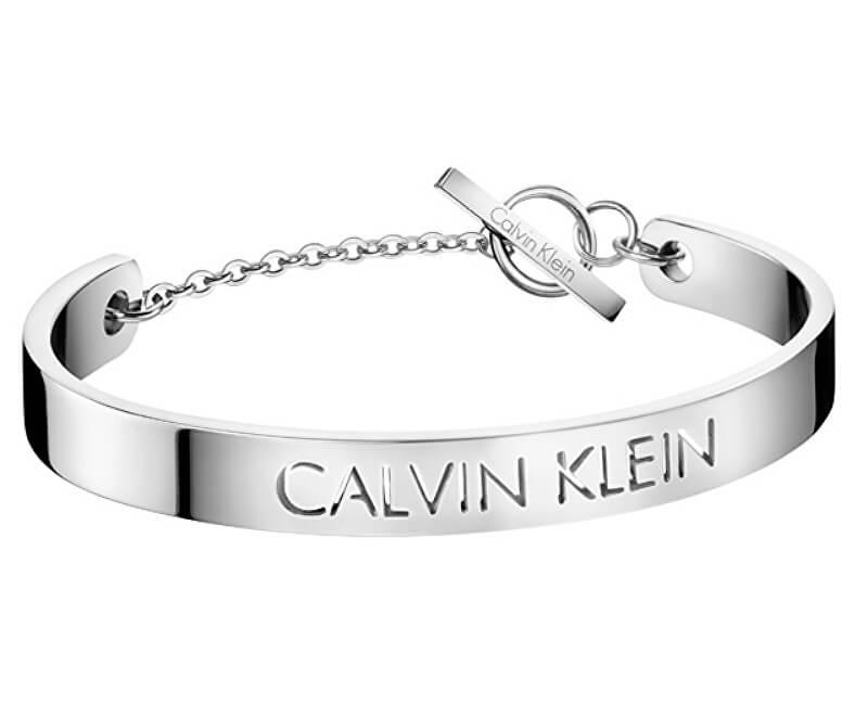 Calvin Klein Pevný oceľový náramok Message KJ7CMF00030
