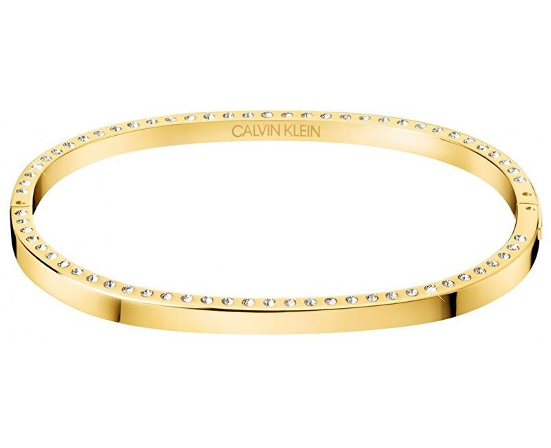 Calvin Klein Pevný ocelový náramek s krystaly Hook KJ06JD14010