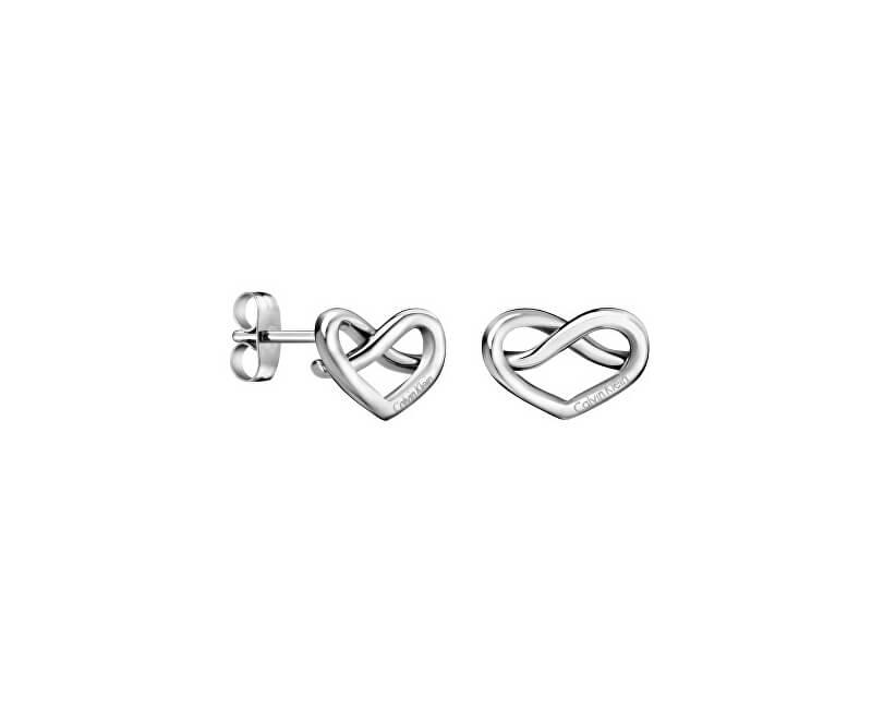 Calvin Klein Srdíčkové ocelové náušnice Charming KJ6BME000100