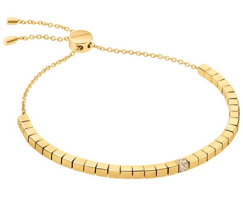 Calvin Klein Stylový pozlacený náramek Tune KJ9MJB140100