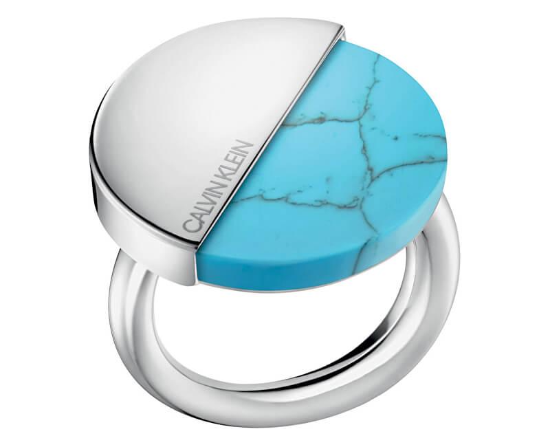 Calvin Klein Stylový prsten s tyrkysem Spicy KJ8RLR0401