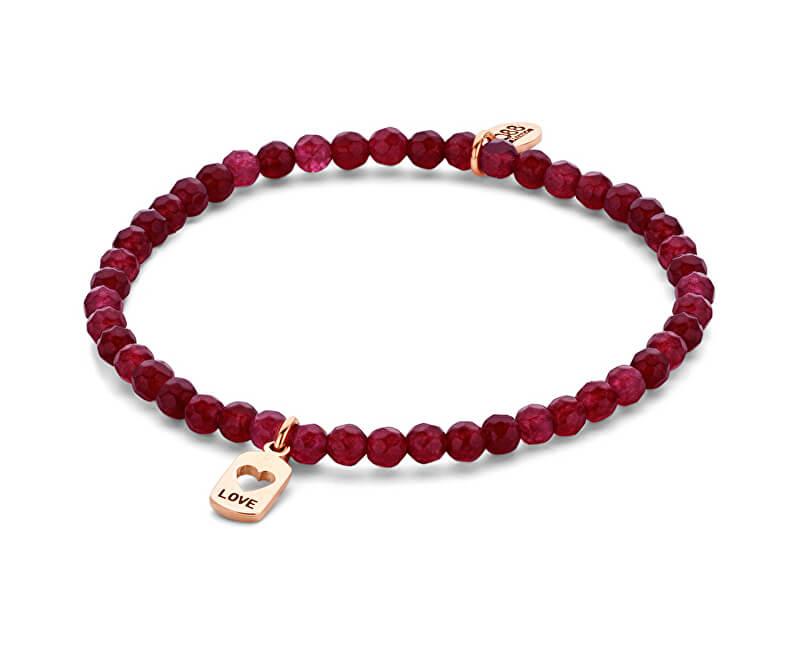 CO88 Red brățară jad cu inima 865-180-090155-0000
