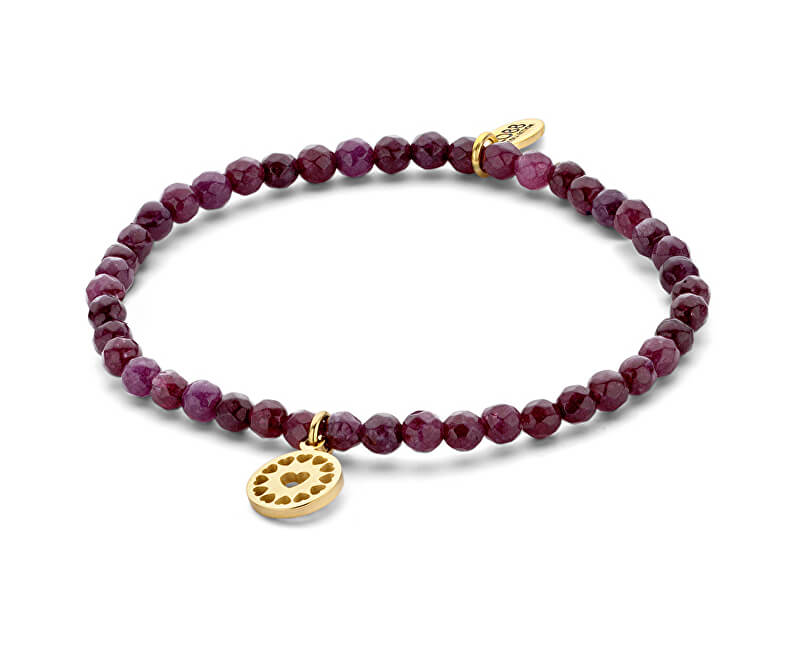 CO88 Purple brățară jad cu inimile 865-180-090157-0000