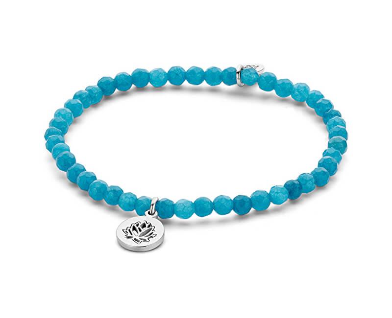 CO88 Brățară albastră jadeită cu liliac 865-180-090167-0000