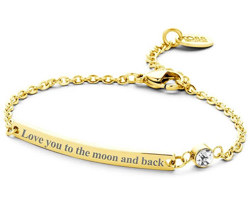 CO88 Brățară din oțel Te iubesc la lună și înapoi 860-180-090136-0000