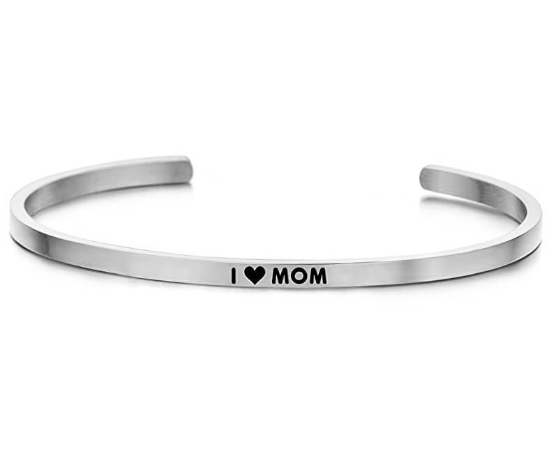 CO88 Brățară din oțel solid I ♥ Mom 860-180-090242-0000