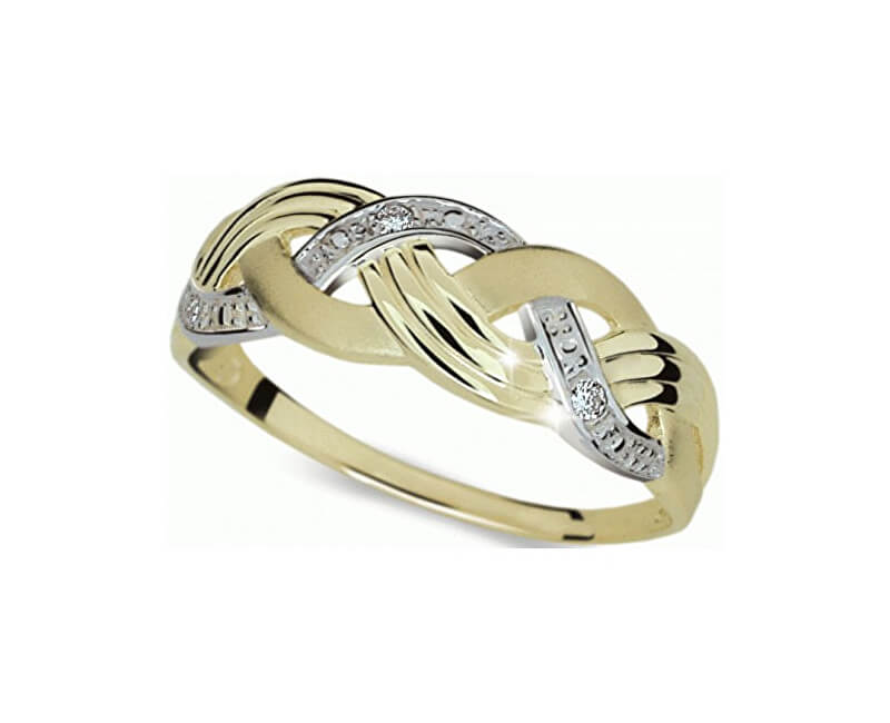 Danfil Krásný bicolor prsten s diamanty DF1848z