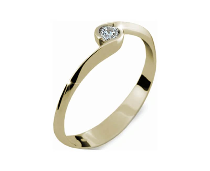 cc6c516b0 Danfil Krásný zásnubní prsten ze žlutého zlata DF1914z Doprava a ...