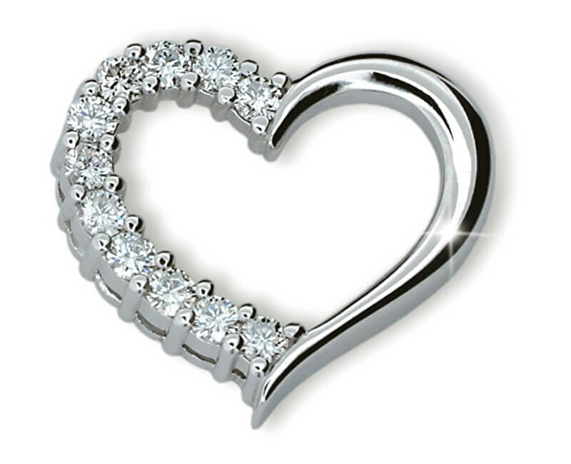 Danfil Luxusní přívěsek ve tvaru srdce DF1920b