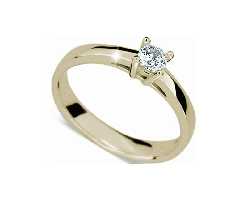 8c5d47ff5 Danfil Luxusní zásnubní prsten ze žlutého zlata DF1902z Doprava ...