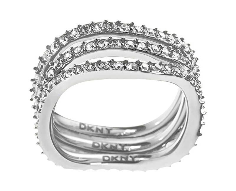 DKNY Trojitý prsten s krystaly NJ1919040