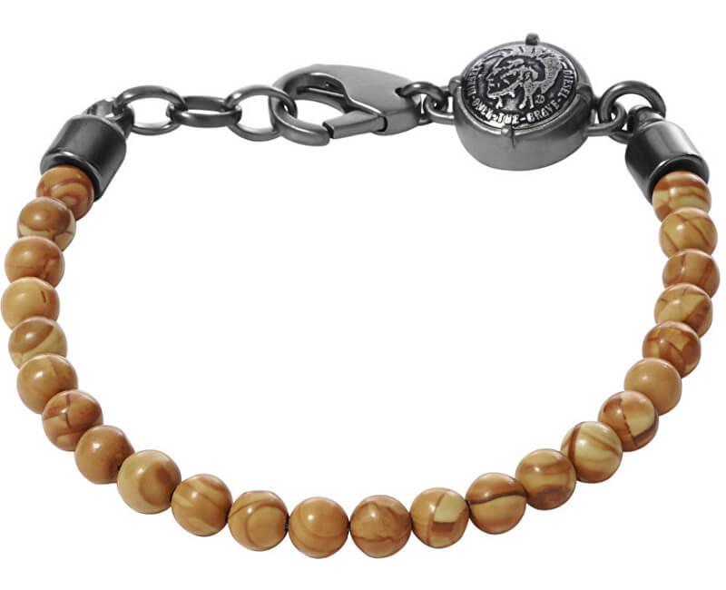 Diesel Brățară cu perle pentru bărbați DX0878060