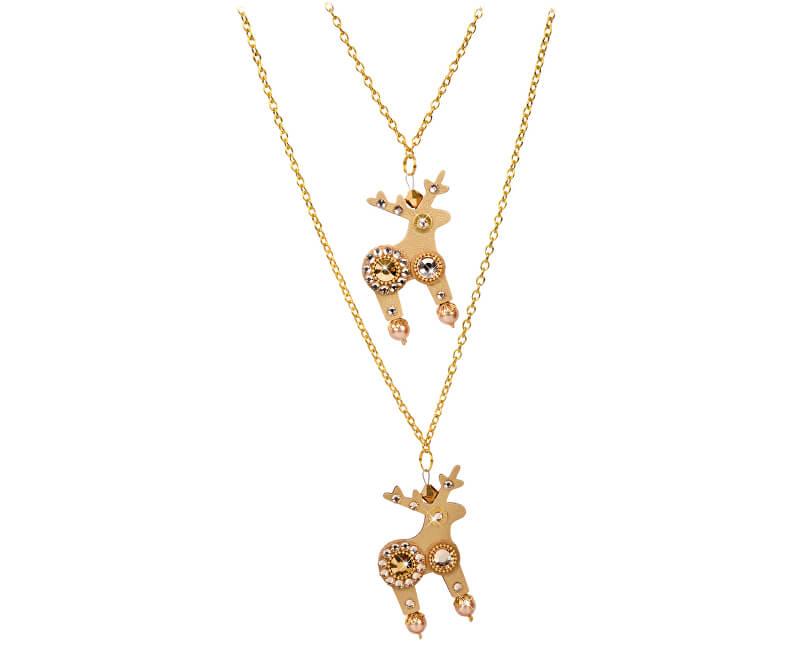 Deers Dvojitý zlatý náhrdelník Molly & Dolly