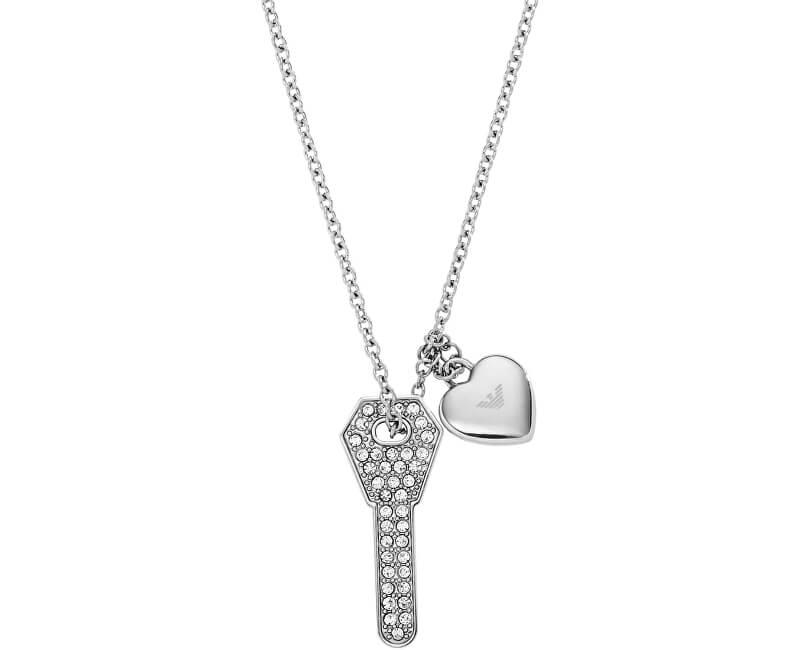 Emporio Armani Colier din oțel cu cheie EGS2202040