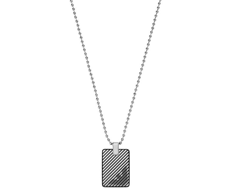 Emporio Armani Lanț din oțel pentru bărbați EGS2180060