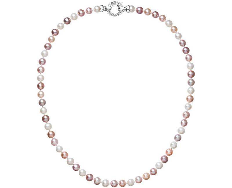 Evolution Group Barevný perlový náhrdelník Pavona 22004.3 A
