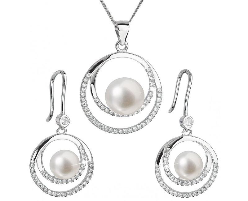 e5c8088fc Evolution Group Luxusní stříbrná souprava s pravými perlami Pavona 29020.1  (náušnice, řetízek, přívěsek