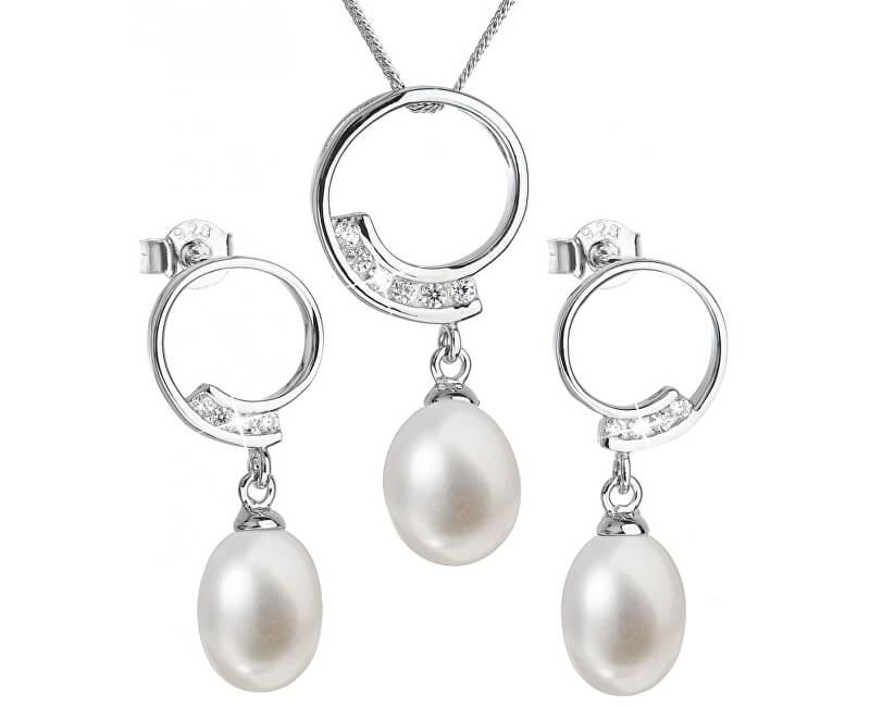 584d9266e Evolution Group Luxusní stříbrná souprava s pravými perlami Pavona 29030.1  (náušnice, řetízek, přívěsek