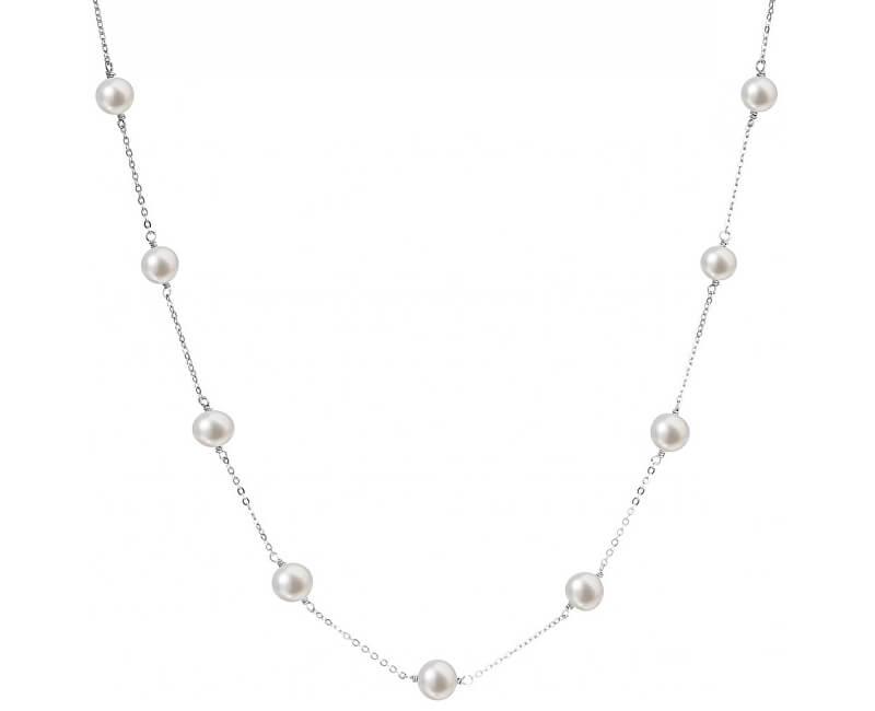 Evolution Group Stříbrný náhrdelník s pravými perlami Pavona 22013.1
