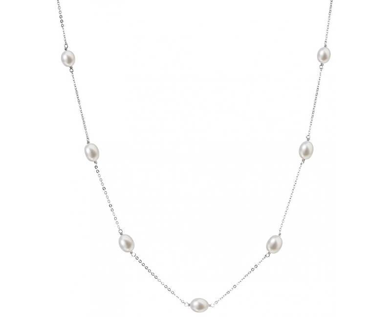 Evolution Group Stříbrný náhrdelník s pravými perlami Pavona 22016.1