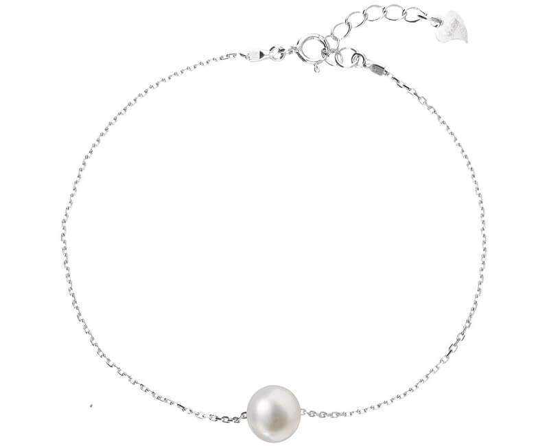 Evolution Group Stříbrný náramek s pravou perlou Pavona 23009.1