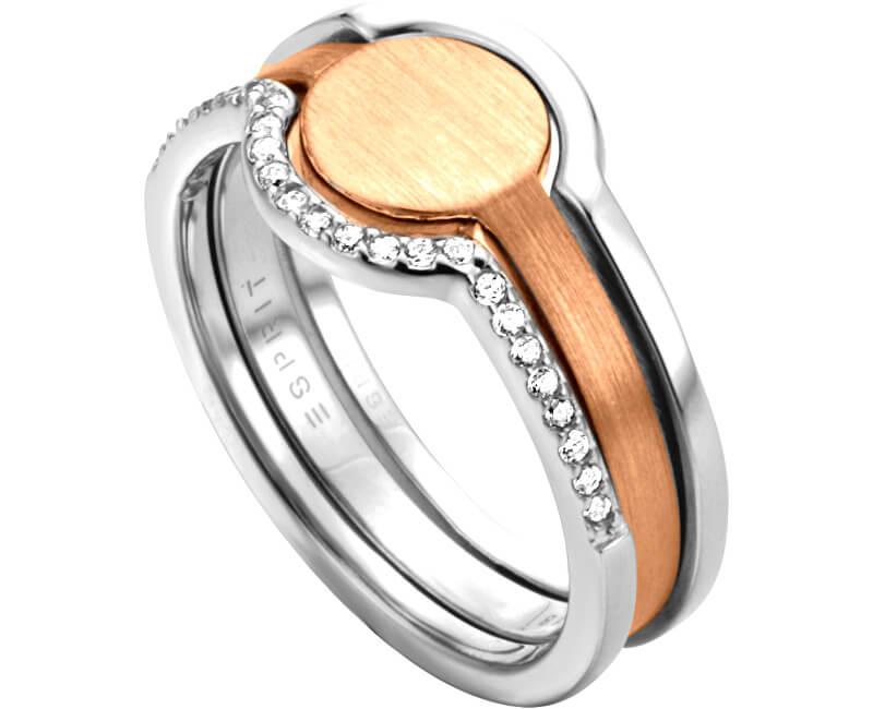 Esprit Stříbrný bicolor prsten 2v1 Fuse ESRG003012