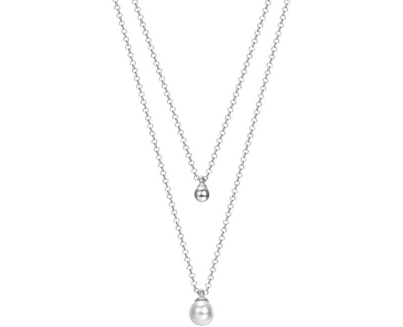 Esprit Kétsoros ezüst nyaklánc gyöngy medállal ESPRIT-JW52906 Kiárusítás 07d1e4639d