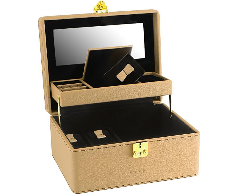 Friedrich Lederwaren Jewel Box Bej / Negru Ascot 20124-8 - REDUCERE