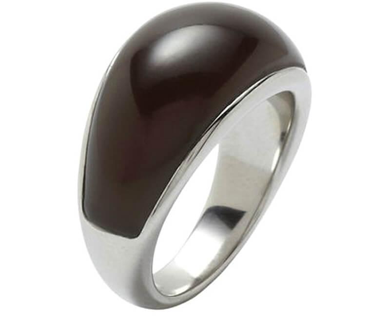 Fossil Ocelový prsten JF88043040