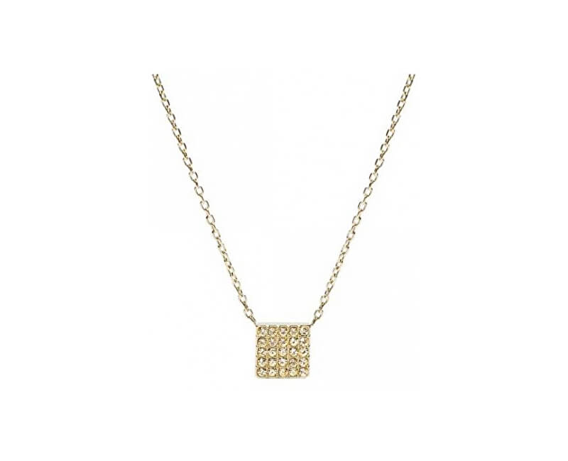 Fossil Zlatý náhrdelník s príveskom JF02263710