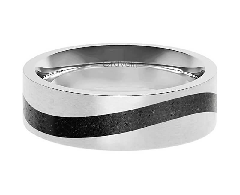 Gravelli Betonový prsten Curve ocelová/antracitová GJRWSSA113