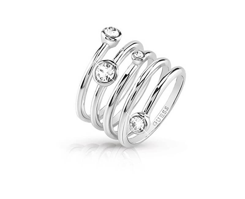 Guess Luxusní spirálovitý prsten UBR84055