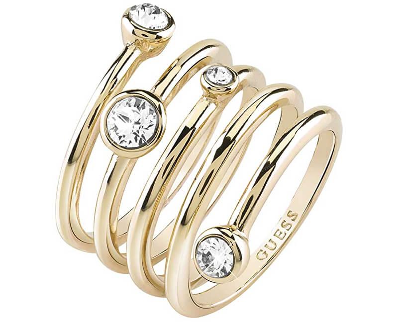 Guess Luxusní spirálovitý prsten UBR84056